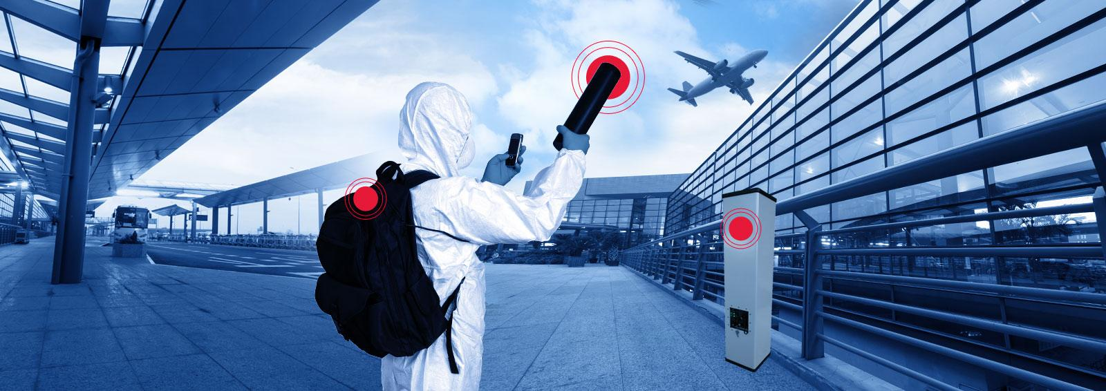 Radiological detection, portable backpack, mobile portal monitor, spectroscopic monitoring
