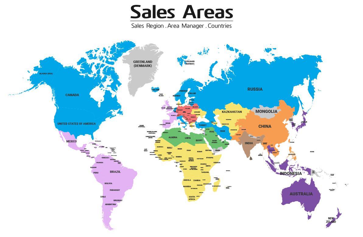 Environics Sales Areas